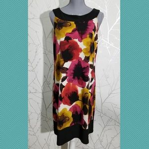 Tiana B. Watercolor Floral Print Shift Dress